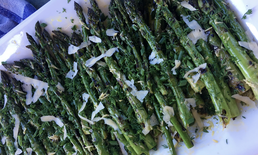 Grilled Asparagus Salad with Parmesan.