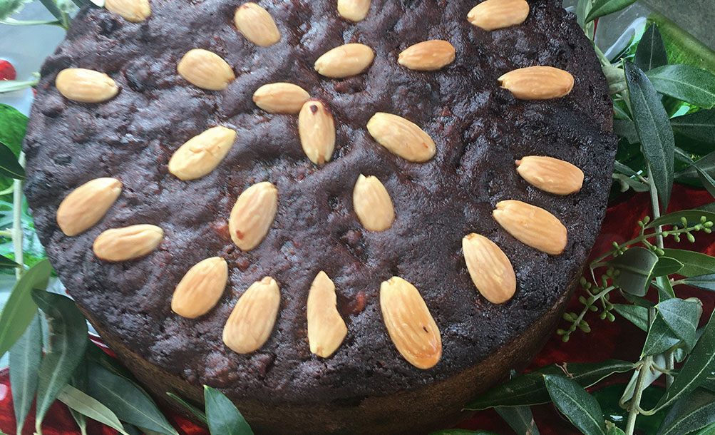 Olive Oil Christmas Cake.